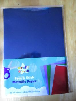 Self Adhesive Peel and Stick Metallic Paper