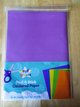 Self Adhesive Peel and Stick Coloured Paper