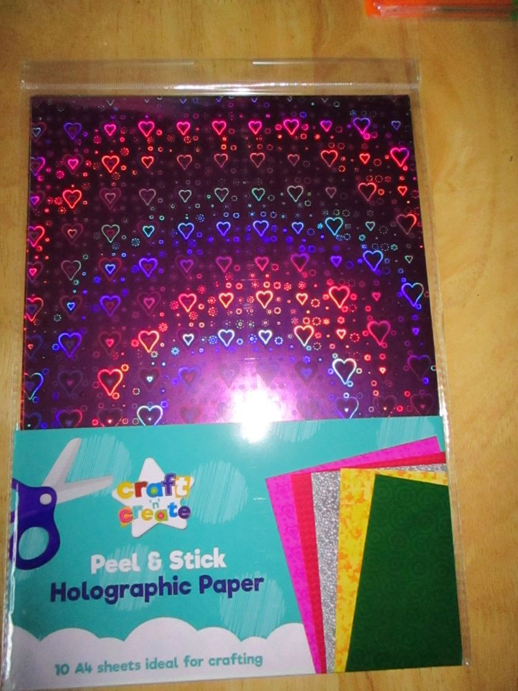 Self Adhesive Peel and Stick Holographic Paper