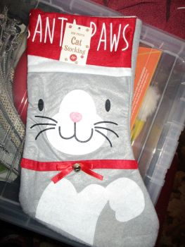 Felted Cat Christmas Stocking