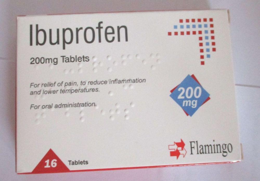 Ibuprofen 200mg 16 Tablet Pack - Flamingo Pharma