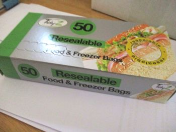 TidyZ 50 Resealable Food & Freezer Bags (zip lock). Ultimate Strength