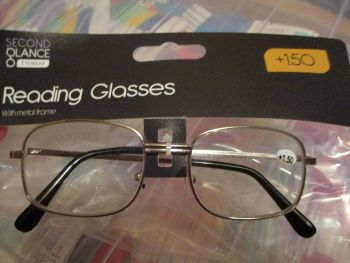 +1.50 Reading Glasses with Silver Metal Frames – Second Glance Eye-wear