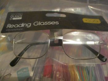 +3.00 Reading Glasses with Silver Metal Frames – Second Glance Eye-wear