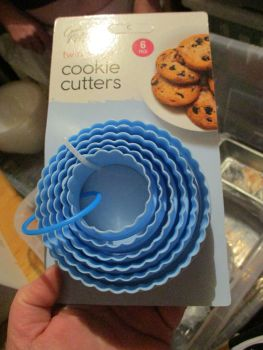 Blue 6 pack Twin Edge Cookie Cutters - Cooke & Miller Kitcheware