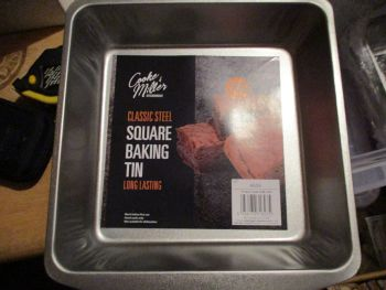Classic Steel Square Baking Tin - Cooke & Miller Kitchenware