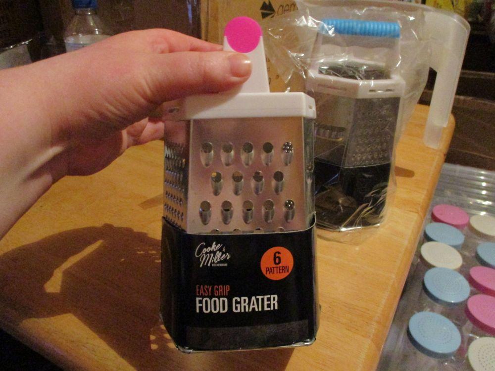 Pink Handled Easy Grip Food Grater – 6 patterns - Cooke & Miller