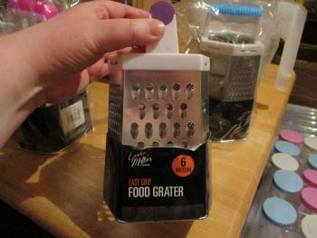 Purple Handled Easy Grip Food Grater – 6 patterns - Cooke & Miller