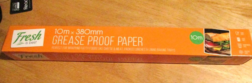 Fresh is Best 10m x 38cm Greaseproof Paper