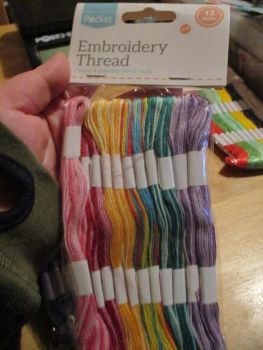 Two-Tones Embroidery Thread cotton & Polyester blend 6ply 12 skeins