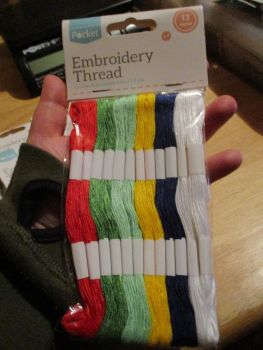 Primarys Embroidery Thread cotton & Polyester blend 6ply 12 skeins