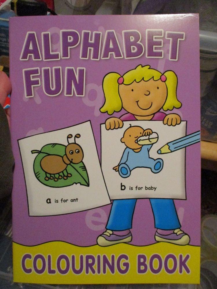 Purple Alphabet Fun - Colouring Book - Alligator Books 2019