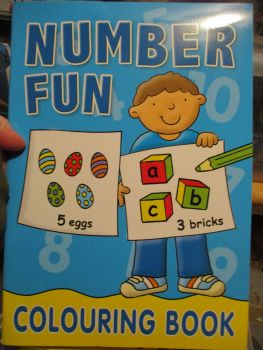 Blue Number Fun - Colouring Book - Alligator Books 2019