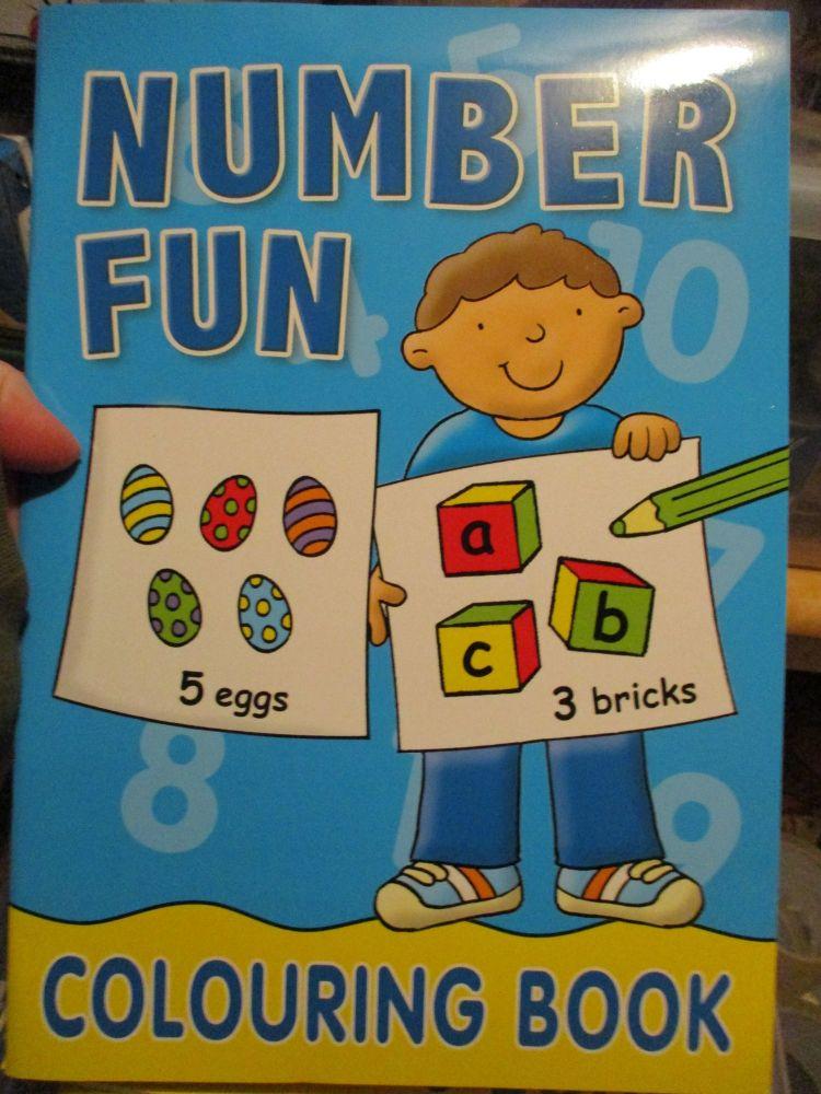 Blue Number Fun - Colouring Book - Alligator Books 2019