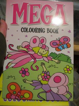 Light Pink with Fairy Butterfly Cover - Alligator Mega Colouring Book