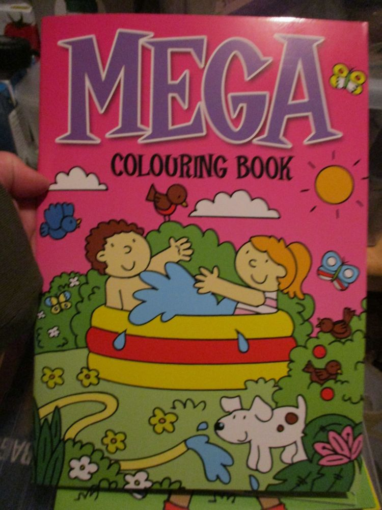 Dark Pink with Paddling Pool Cover - Alligator Mega Colouring Book
