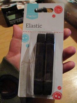 Elastic in 1.2cm x 2m - Black