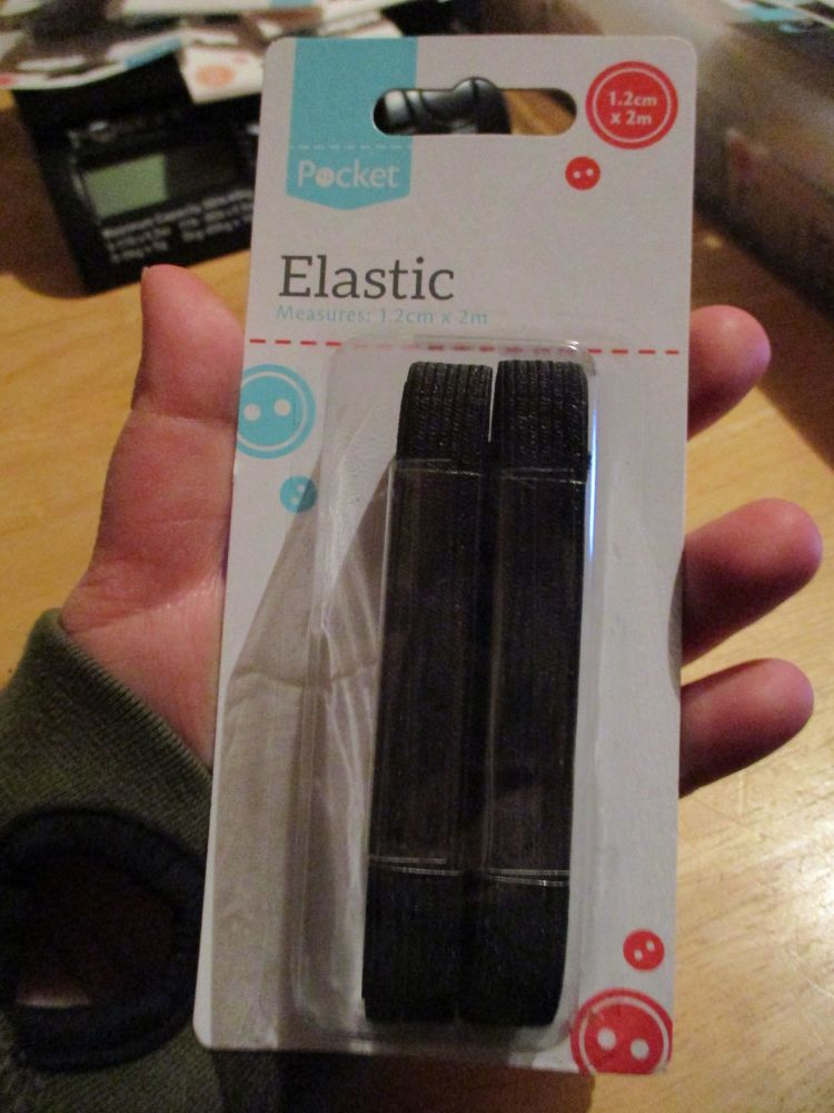 Elastic in 1.2cm x 2m - Black