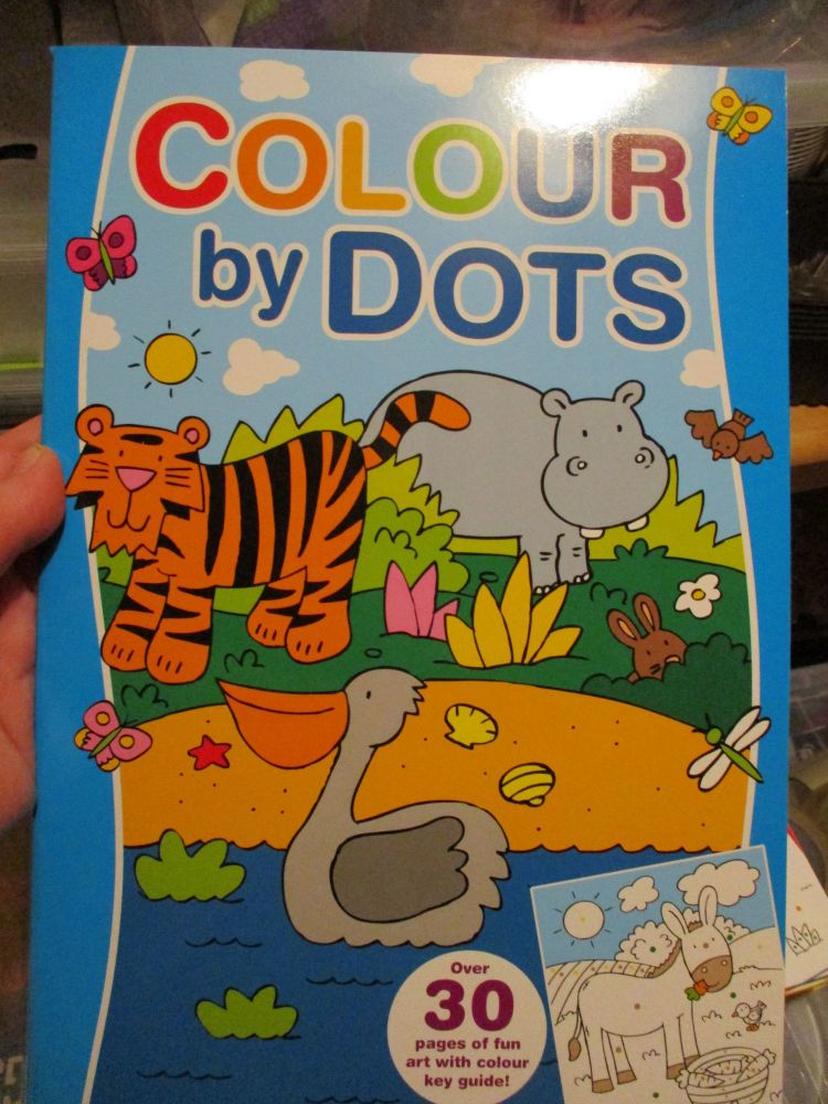 Blue Colour By Dots Colouring Book