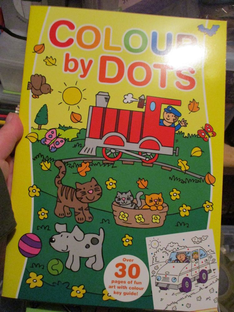 Yellow Colour By Dots Colouring Book