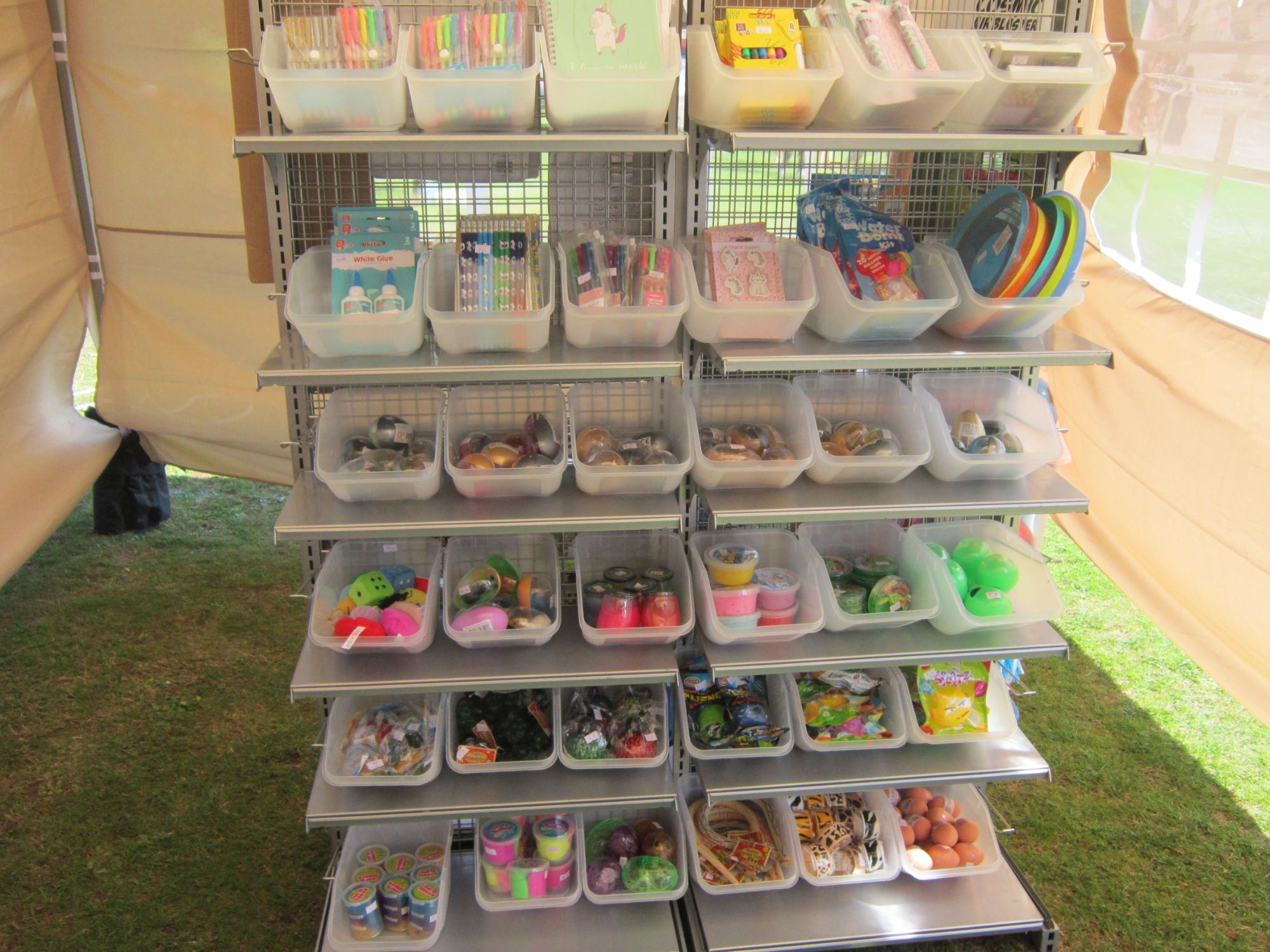 2019 Shrivenham Village Fete Small Toy & Stationery Stand