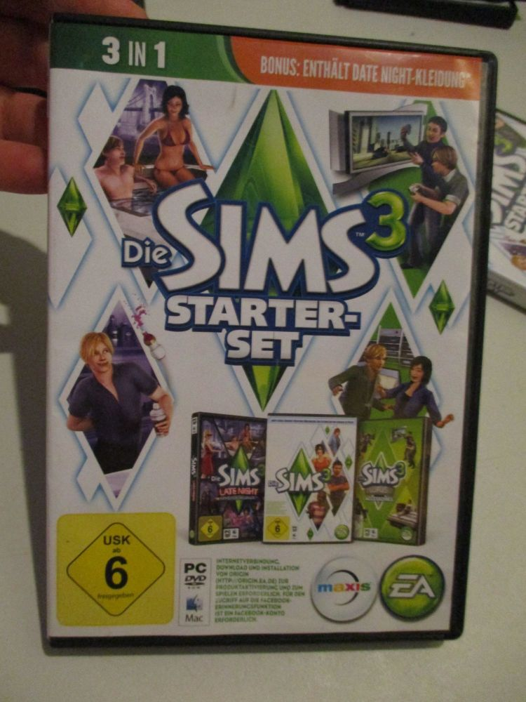 The Sims 3 Starter Set - Incs Base, Hi End Loft & Late Night (German) Pal PC DVD / Mac #FM0552