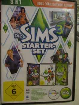 The Sims 3 Starter Set - Incs Base, Hi End Loft & Late Night (German) Pal PC DVD / Mac #FM0557