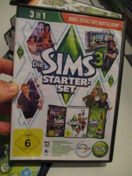 The Sims 3 Starter Set - Incs Base, Hi End Loft & Late Night (German) Pal PC DVD / Mac #FM0571