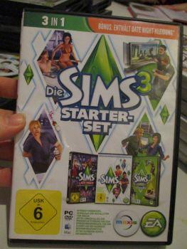 The Sims 3 Starter Set - Incs Base, Hi End Loft & Late Night (German) Pal PC DVD / Mac #FM0569
