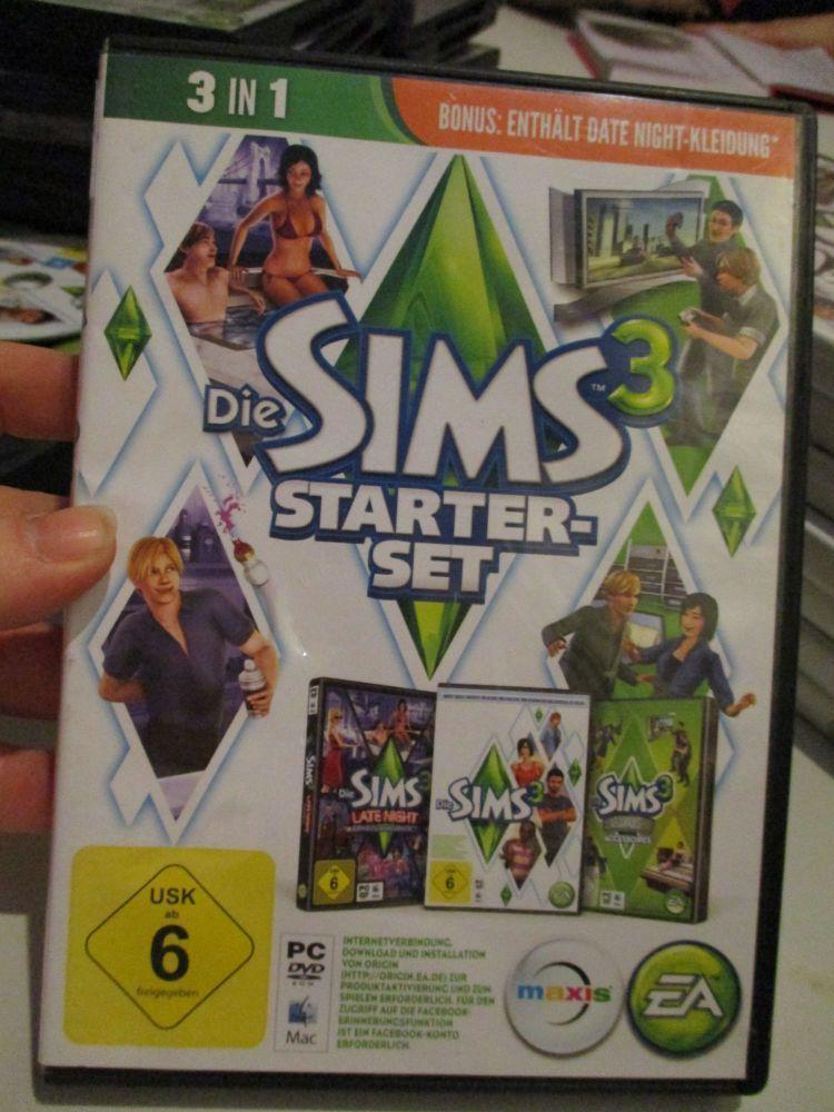 The Sims 3 Starter Set - Incs Base, Hi End Loft & Late Night (German) Pal P