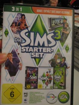 The Sims 3 Starter Set - Incs Base, Hi End Loft & Late Night (German) Pal PC DVD / Mac #FM0568