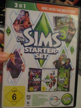 The Sims 3 Starter Set - Incs Base, Hi End Loft & Late Night (German) Pal PC DVD / Mac #FM0567