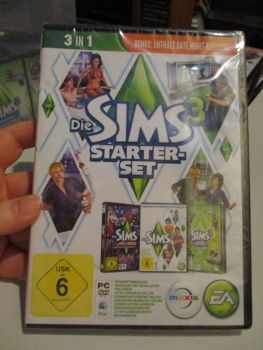 *Sealed* The Sims 3 Starter Set - Incs Base, Hi End Loft & Late Night (German) Pal PC DVD / Mac #FM0565