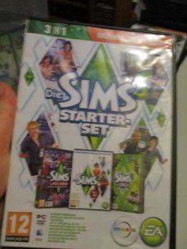 The Sims 3 Starter Set - Incs Base, Hi End Loft & Late Night (German) Pal PC DVD / Mac #FM0554