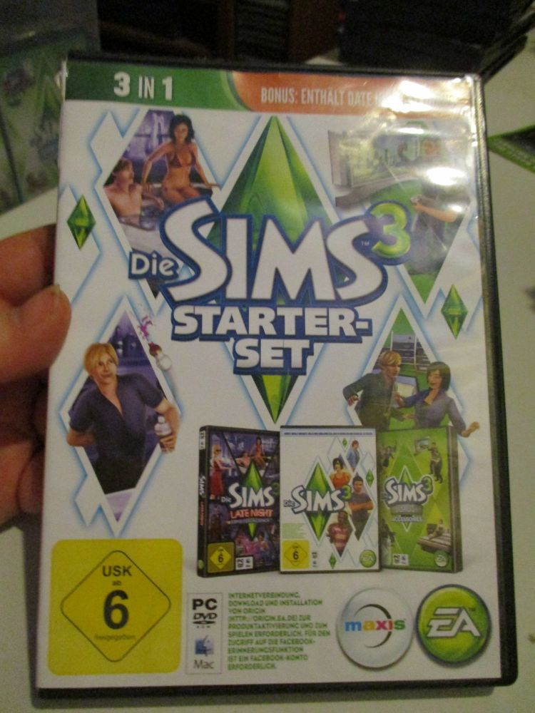 The Sims 3 Starter Set - Incs Base, Hi End Loft & Late Night (German) Pal P