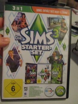 The Sims 3 Starter Set - Incs Base, Hi End Loft & Late Night (German) Pal PC DVD / Mac #FM0563