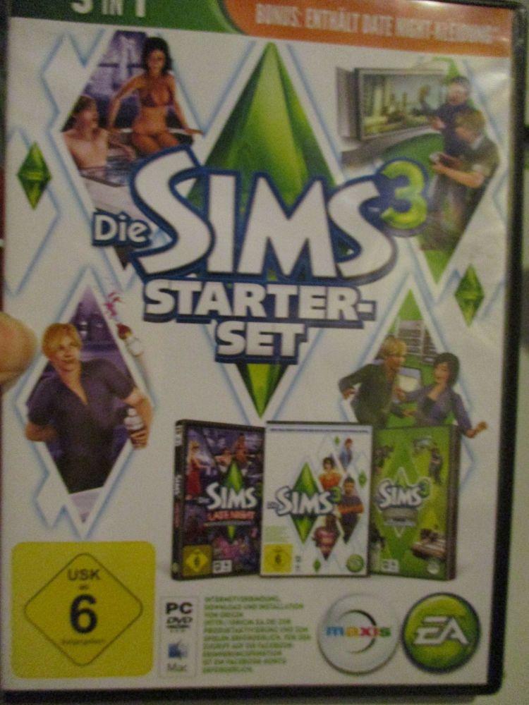 The Sims 3 Starter Set - Incs Base, Hi End Loft & Late Night (German) Pal PC DVD / Mac #FM0588