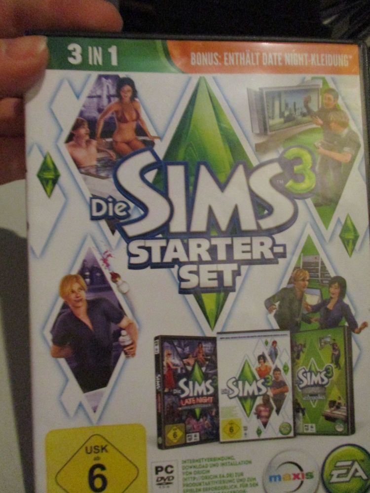 The Sims 3 Starter Set - Incs Base, Hi End Loft & Late Night (German) Pal PC DVD / Mac #FM0581