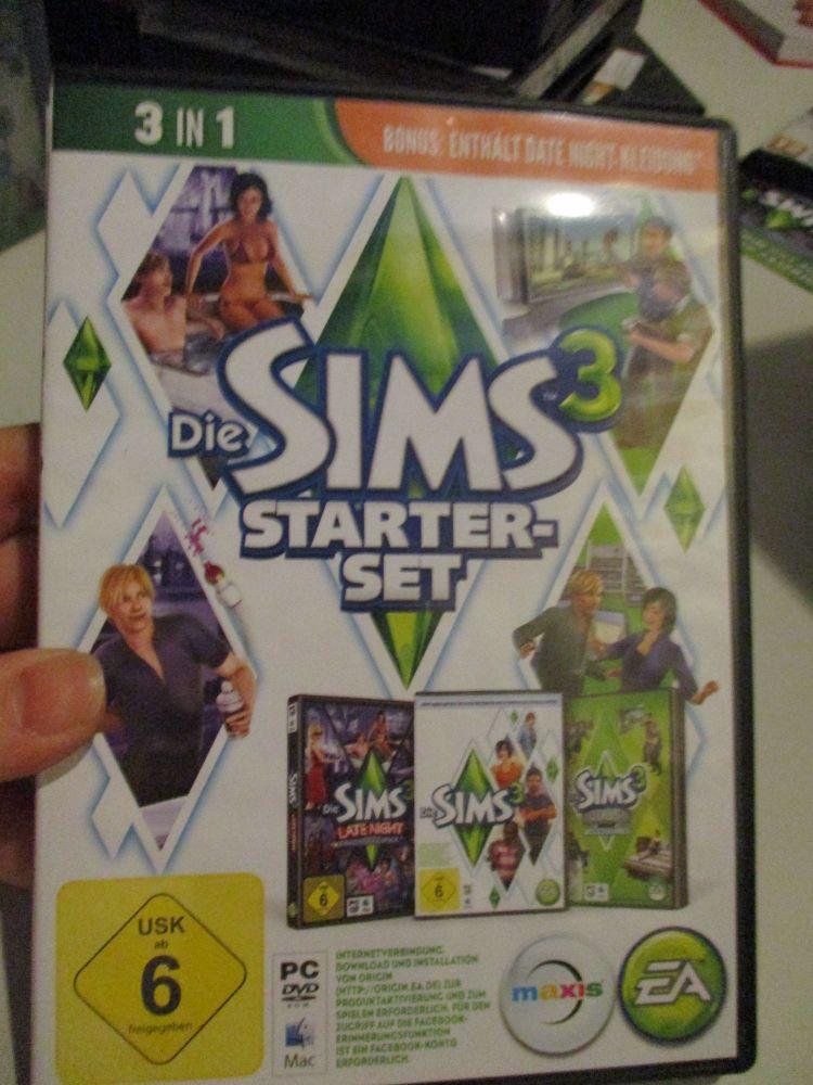 The Sims 3 Starter Set - Incs Base, Hi End Loft & Late Night (German) Pal PC DVD / Mac #FM0583