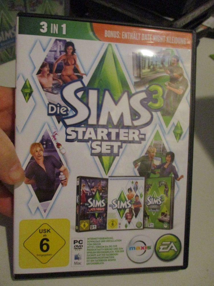 The Sims 3 Starter Set - Incs Base, Hi End Loft & Late Night (German) Pal PC DVD / Mac #FM0587
