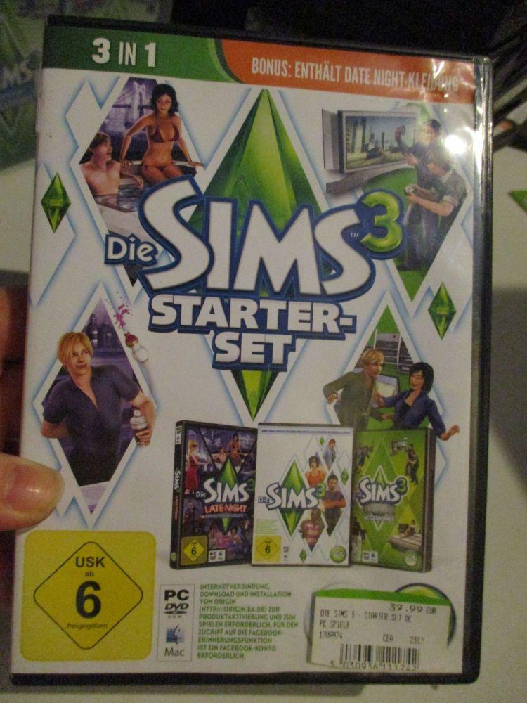 The Sims 3 Starter Set - Incs Base, Hi End Loft & Late Night (German) Pal PC DVD / Mac #FM0585