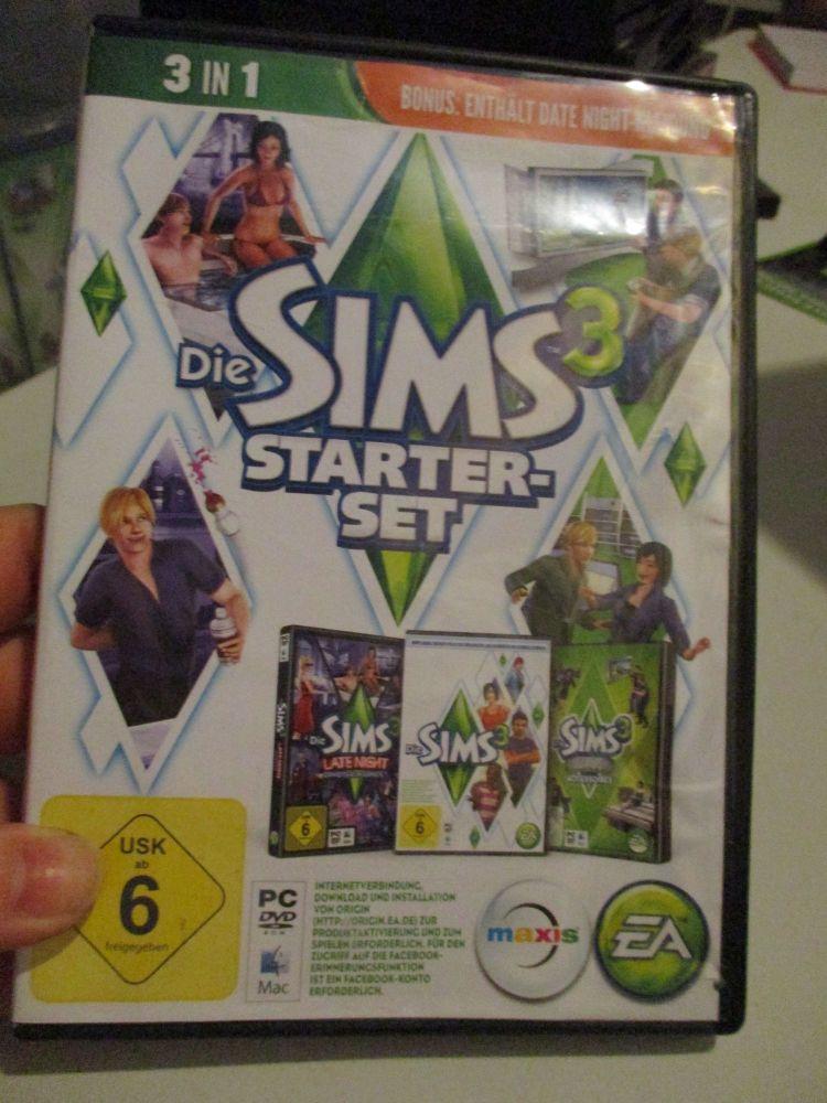 The Sims 3 Starter Set - Incs Base, Hi End Loft & Late Night (German) Pal PC DVD / Mac #FM0584