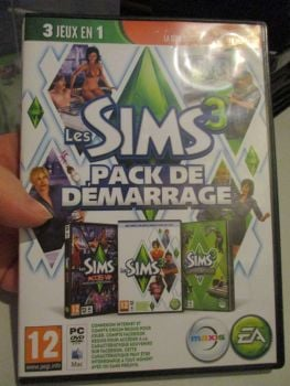 The Sims 3 Starter Set - Incs Base, Hi End Loft & Late Night (French) Pal PC DVD / Mac #FM0548