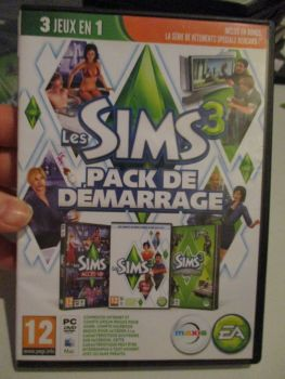 The Sims 3 Starter Set - Incs Base, Hi End Loft & Late Night (French) Pal PC DVD / Mac #FM0556