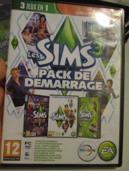 The Sims 3 Starter Set - Incs Base, Hi End Loft & Late Night (French) Pal PC DVD / Mac #FM0575
