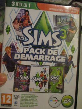 The Sims 3 Starter Set - Incs Base, Hi End Loft & Late Night (French) Pal PC DVD / Mac #FM0574
