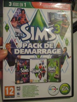 The Sims 3 Starter Set - Incs Base, Hi End Loft & Late Night (French) Pal PC DVD / Mac #FM0551