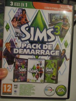 The Sims 3 Starter Set - Incs Base, Hi End Loft & Late Night (French) Pal PC DVD / Mac #FM0558