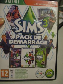 The Sims 3 Starter Set - Incs Base, Hi End Loft & Late Night (French) Pal PC DVD / Mac #FM0561