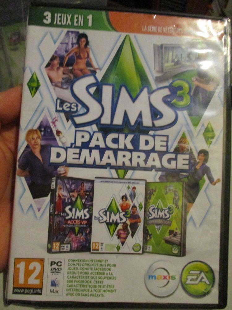 The Sims 3 Starter Set - Incs Base, Hi End Loft & Late Night (French) Pal PC DVD / Mac #FM0547